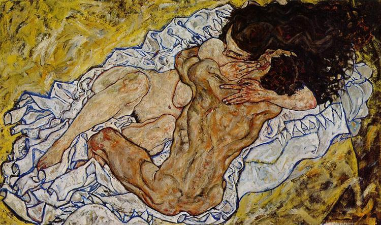 The Embrace II (1917), Egon Schiele